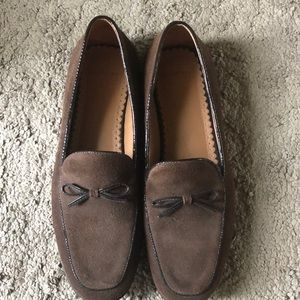 Lands' End Shoes - Lands' End brown suede loafers size 7